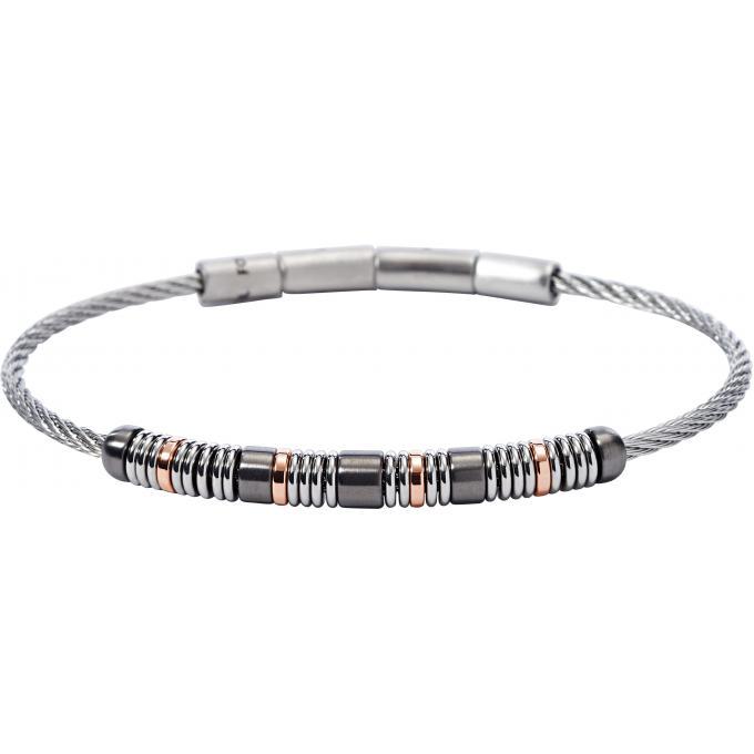 Bracelet fossil bijoux jf01655998 bracelet perles tricolore homme