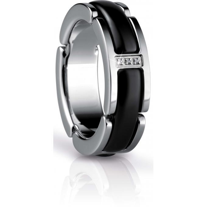 bague bering link 502 16 bague acier c ramique noire. Black Bedroom Furniture Sets. Home Design Ideas